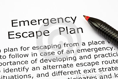 Emergency Escape Plan Royalty Free Stock Photo - Image: 27868875