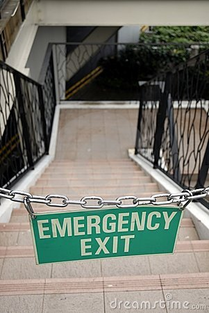 Emergency exit - Chained