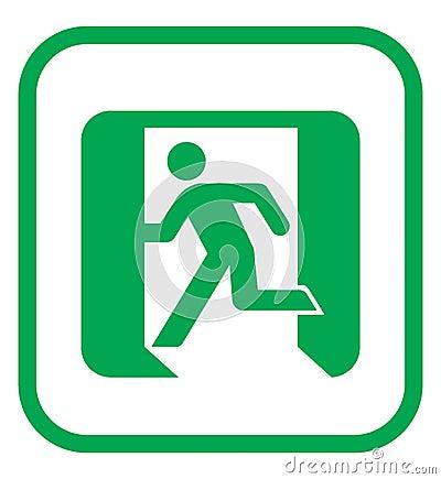 Emergency Exit Icon Stock Photography - Image: 10277712
