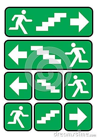 emergency exit sign stock image image 10286531