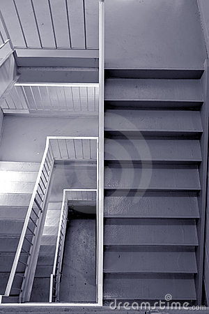 Emergency Exit Stairway in a Commercial Building