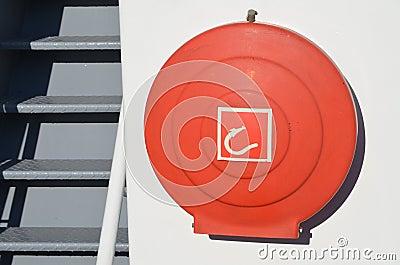 Emergency firehose aboard a fishing vessel