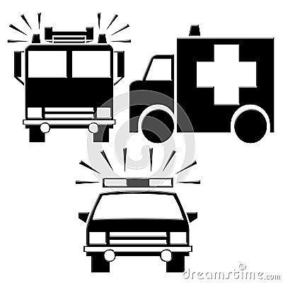 Emergency Icons Royalty Free Stock Image - Image: 23935146