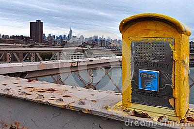 Emergency phone in Manhattan New York Editorial Photography