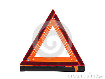 Emergency Reflective Road Triangle Isolated