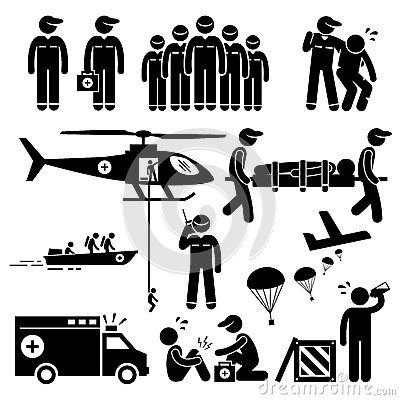 Free Emergency Rescue Team Clipart Royalty Free Stock Images - 55664529