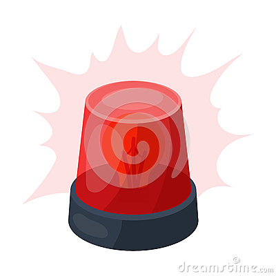 Free Emergency Rotating Beacon Light Icon In Cartoon Style Isolated On White Background. Police Symbol Royalty Free Stock Photography - 85610957