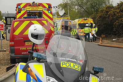 Emergency services at a major incident.