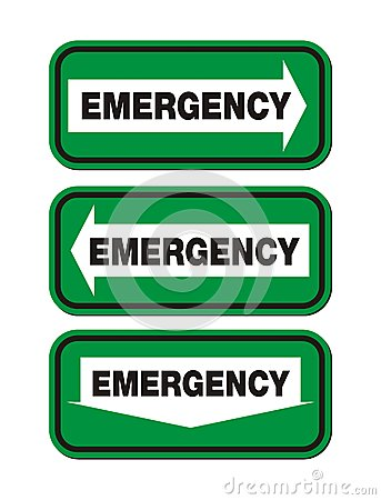 Emergency signs - green sign