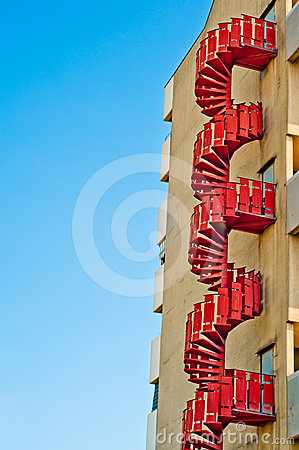 Emergency stairs. urban architecture background