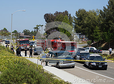 Emergency Vehicles Crime Scene Editorial Photo