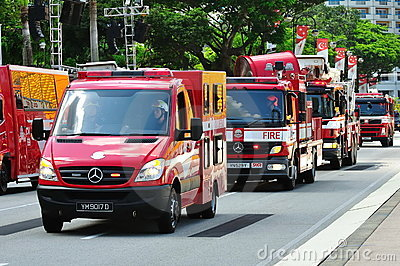 Emergency vehicles at NDP 2010 Editorial Photo