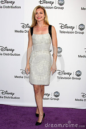 Emily VanCamp arrives at the ABC / Disney International Upfronts Editorial Photography