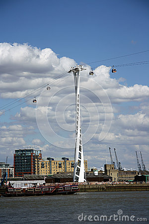 Emirates Air Line (cable car) in London Editorial Photo
