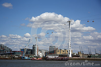 Emirates Air Line (cable car) in London Editorial Stock Image