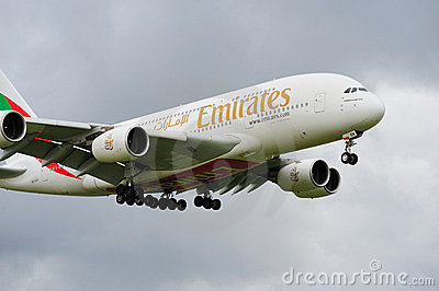 Emirates Airbus A380 Editorial Image