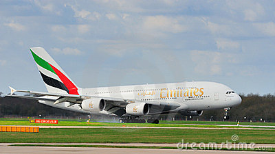 Emirates Airbus A380 Editorial Stock Photo