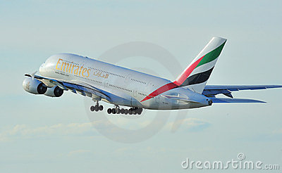 Emirates Airbus A380 Editorial Photography