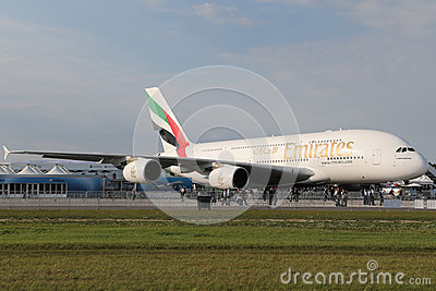 Emirates Airbus A380 800 Editorial Image