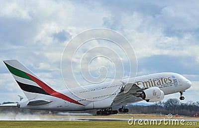 Emirates airbus A380 Editorial Image