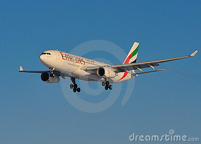 Emirates Airlines Airbus A330 Editorial Photography