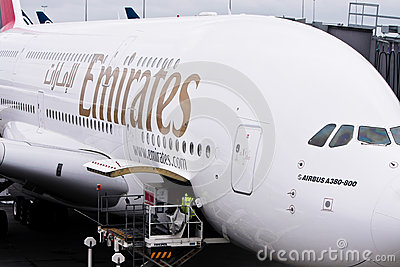 Emirates Airlines Airbus A380 airliner Editorial Photography