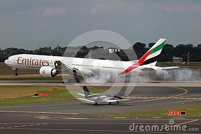 Emirates Boeing 777-300ER Editorial Image