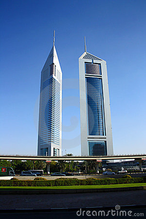 Emirates Towers in Dubai Editorial Photography