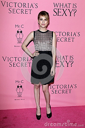 Emma Roberts arrives at the Victoria s Secret What Is Sexy? Party Editorial Stock Image