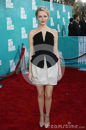 Emma Stone at the 2012 MTV Movie Awards Arrivals, Gibson Amphitheater, Universal City, CA 06-03-12 Editorial Photography