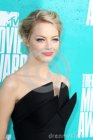 Emma Stone arriving at the 2012 MTV Movie Awards Editorial Photo