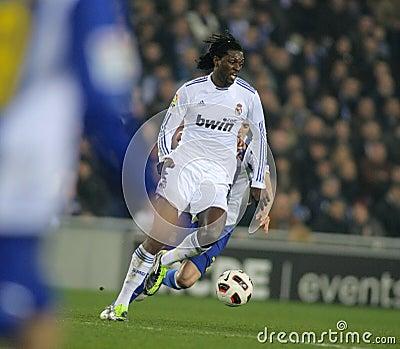 Emmanuel Adebayor of Real Madrid Editorial Photo