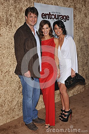Emmanuelle Chriqui,Nathan Fillion,Perrey Reeves,Perrey Reeves- Editorial Image