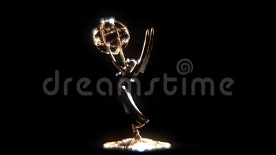 Emmy Award Glow Loopable Rotation. This shot of an Emmy Television Award is part of a collection, I have loopable rotations, close ups, wide shots, transitions