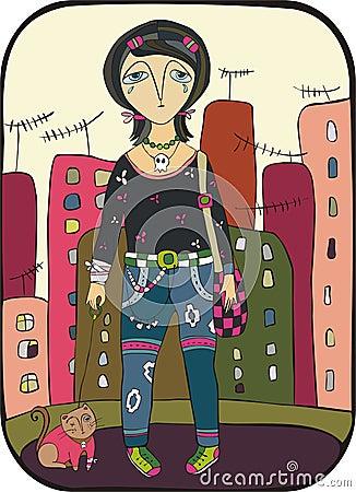Emo in city