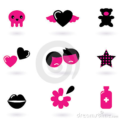 Emo design elements and icons