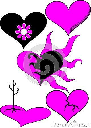 Emo heart set
