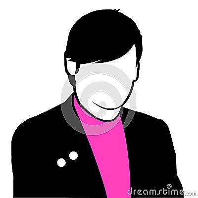 Emo kid silhouette