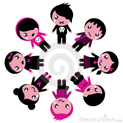 Emo kids circle