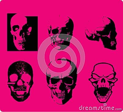 Emo style skull