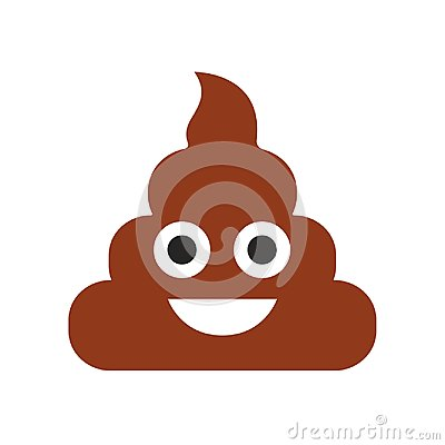 Free Emoji. Poop Face. Cute Emoticon. Flat Smile. Vector Illustration Stock Photography - 122993142