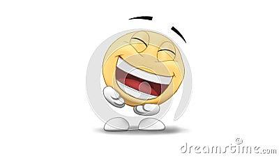 Emoticon śmiać się ilustracja wektor