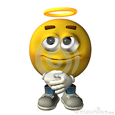 Emoticon Angel Stock I...