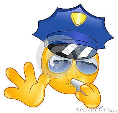 Emoticon del policía