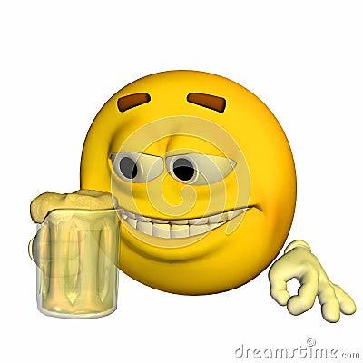 Emoticon - Drinking Beer