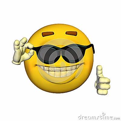 Emoticon - gafas de sol