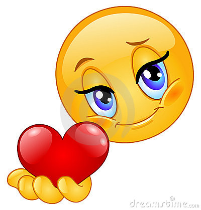 Free Emoticon Giving Heart Stock Image - 17770281