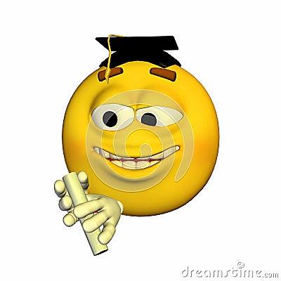 Emoticon - Graduating
