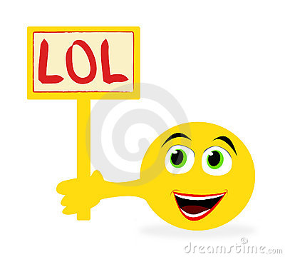 Emoticon holding sign with