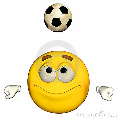 Emoticon - Playing football / soccer